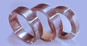 Stainless steel flat wire coil