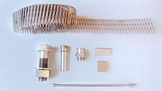Stainless steel wires for nails, screws and bolts